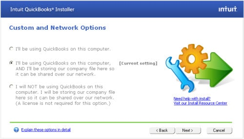Customer and Network Install in QuickBooks - Screenshot 1