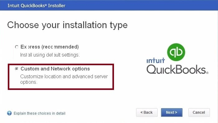 Customer and Network Install in QuickBooks - Screenshot