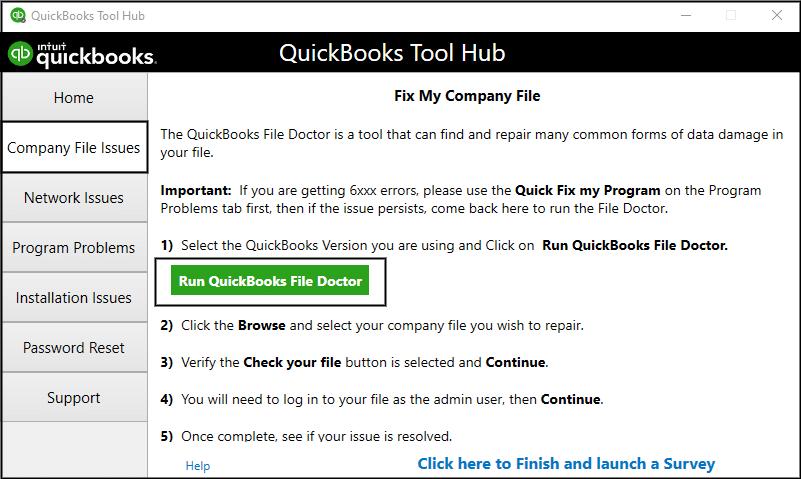 QuickBooks File Doctor - Screenshot image