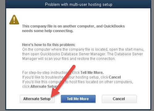 QuickBooks Multi-User Setup Mode Not Working Problem - Screenshot