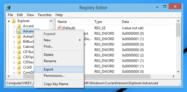 Use Registry Editor - Screenshot
