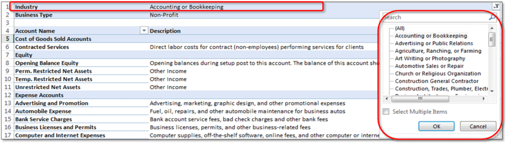 Access chart of accounts in quickbooks desktop - Screenshot