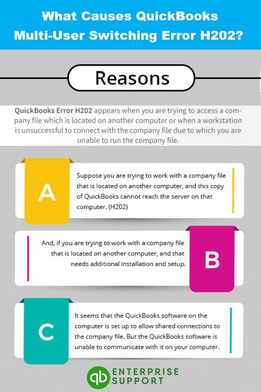 Causes of QuickBooks Error Code H202 - Info-graphic Image