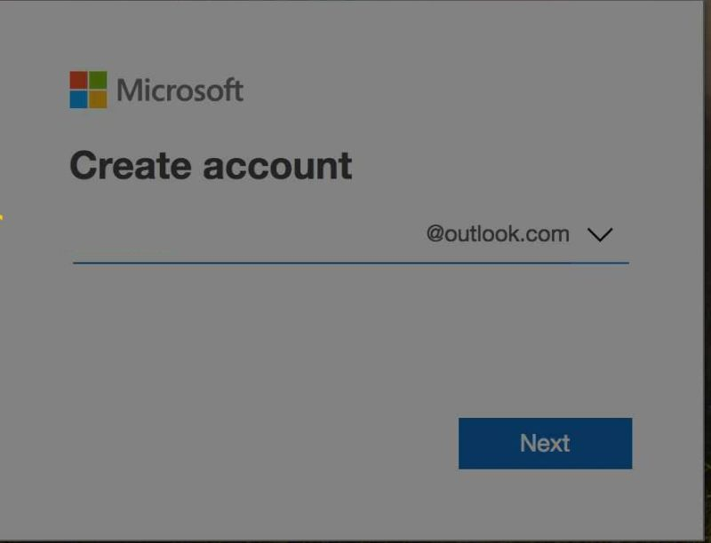 Creating a new Microsoft outlook email - Screenshot