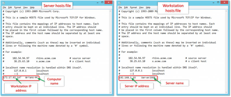 Edit windows host file- screenshot image