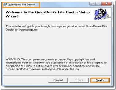 Procedure to download QuickBooks file doctor tool - Screenshot