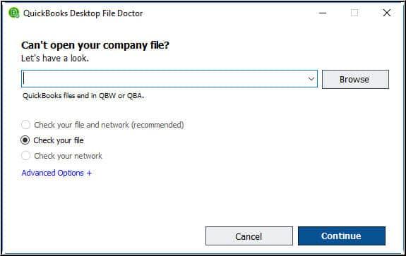 QB system repair tool- screenshot 2