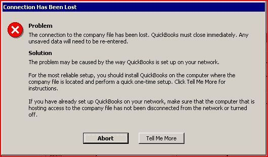 QuickBooks Abort Error- screenshot