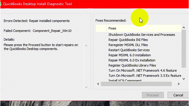 QuickBooks Company File Diagnostic Tool-Screenshot