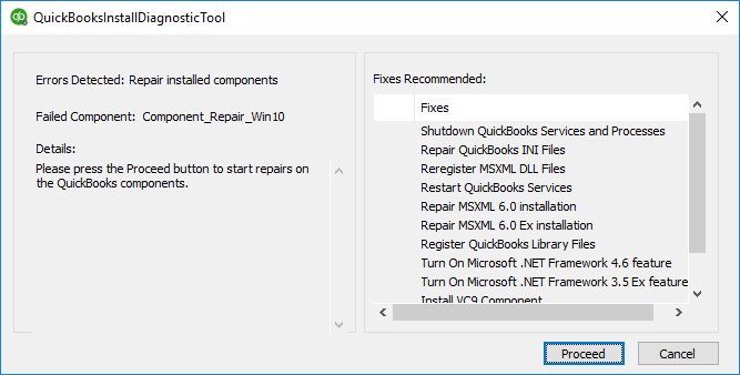 Quickbooks error 1303 : QuickBooks Install Diagnostic Tool -Screenshot