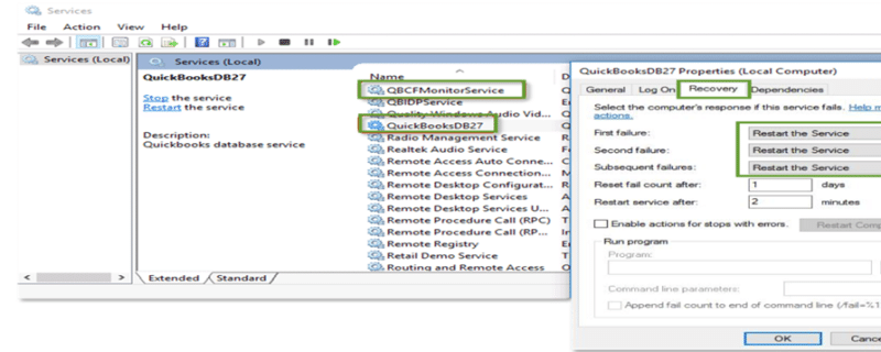 QuickBooks services are running - Screenshot 1