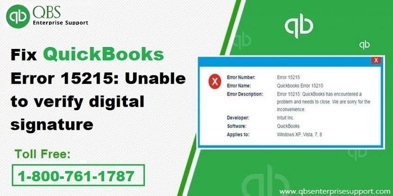 Simple Ways to Resolve QuickBooks Error Code 15215 - Featured Image