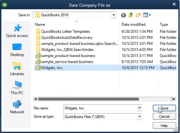 Stepes to Restore the Company File from Backup - 5