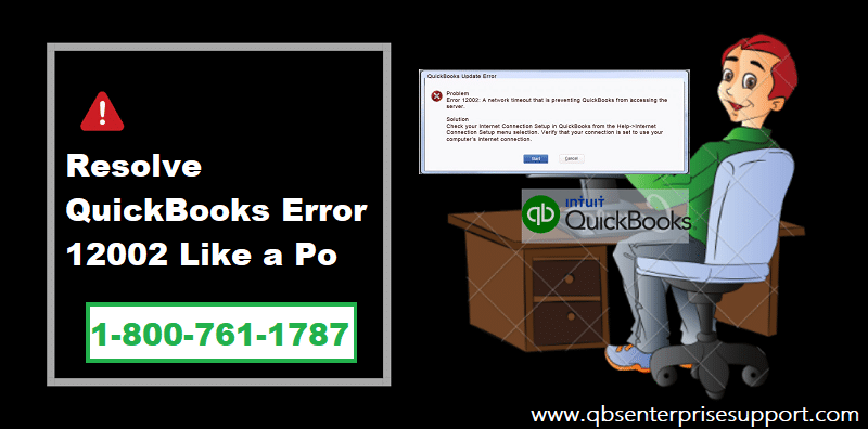 Steps to fix the QuickBooks error code 12002 - Screenshot