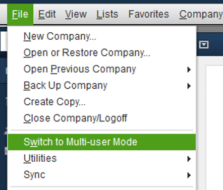 Switch to multi-user mode - Screenshot