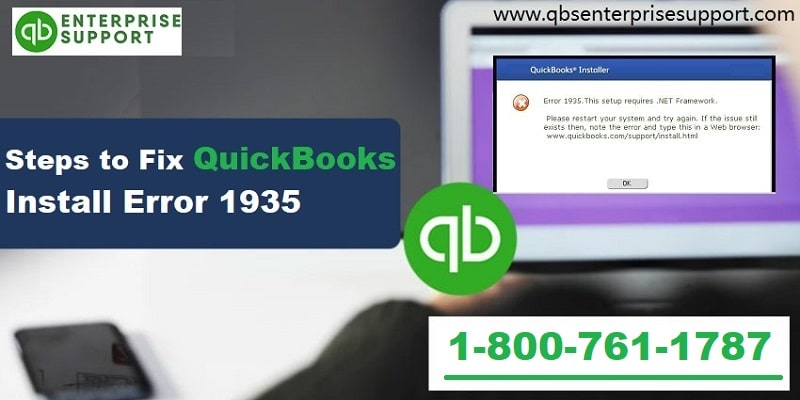 How to Resolve QuickBooks Error 1935 when Installing QuickBooks?