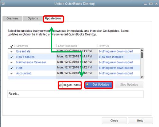 Update QuickBooks desktop (Screenshot)