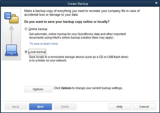 Backup company file manually - Screenshot 1