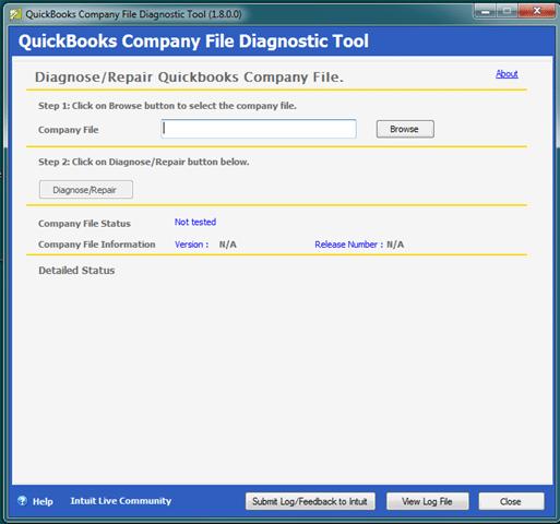 Company file diagnostic tool-screenshot