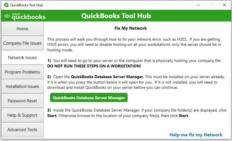 Fix my networkTool hub-screenshot