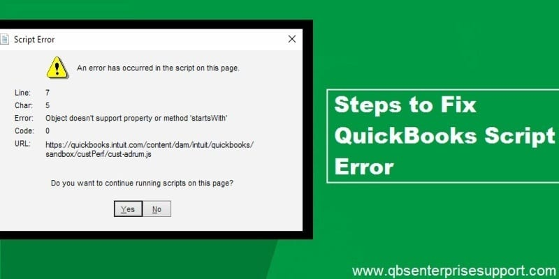 QuickBooks Script Error (Reasons and Solutions)
