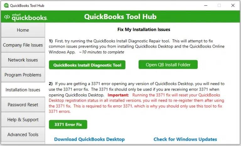 Installation issues Tool hub-screenshot