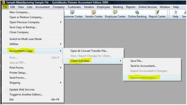 Remove Accountant's Copy Restrictions - Screenshot