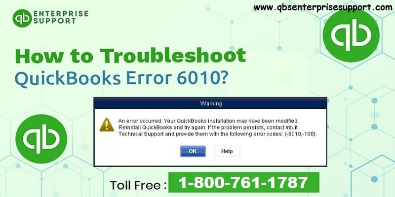 How to Fix QuickBooks Error Code 6010, -100?