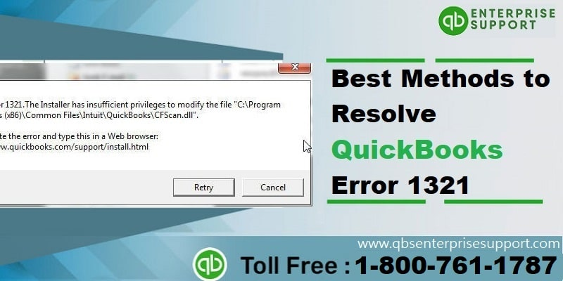 How to Fix QuickBooks error code 1321?