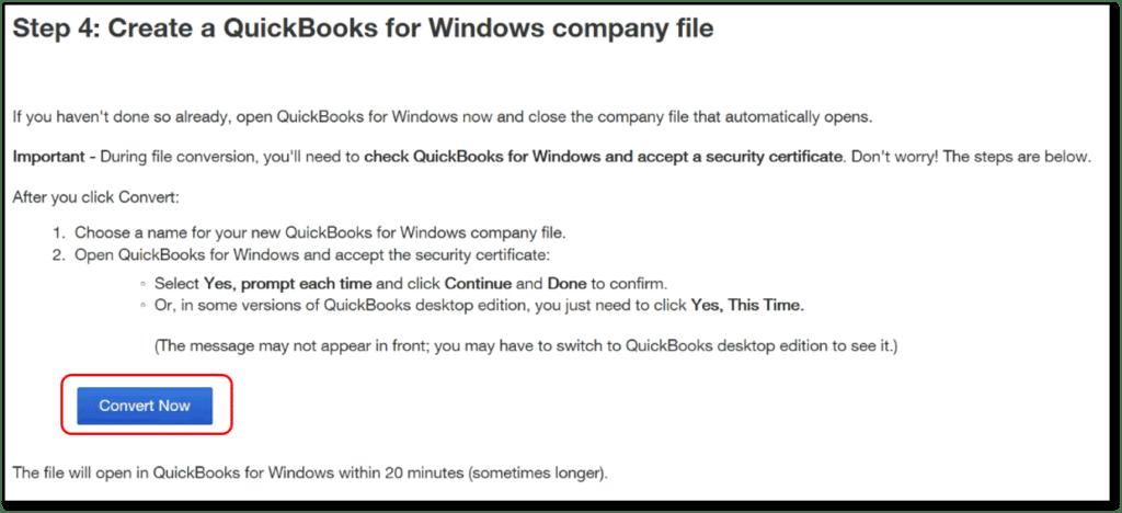 Convert QuickBooks online to desktop- screenshot 4
