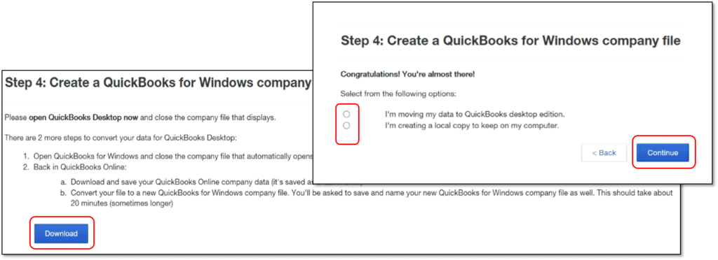 Convert QuickBooks online to desktop- screenshot 5