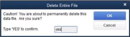 Delete the entire file - Screenshot