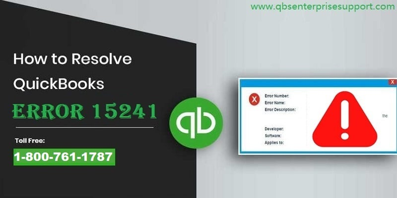 How to resolve QuickBooks error code 15241?