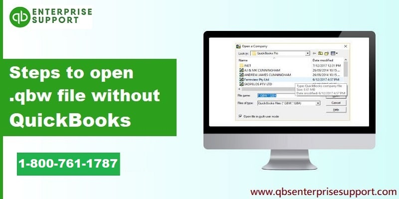 Easy Steps to Open a .QBW file without using QuickBooks - Featured Image