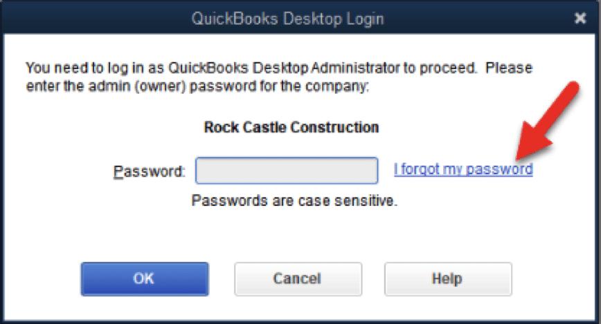 I forgot my password - Screenshot