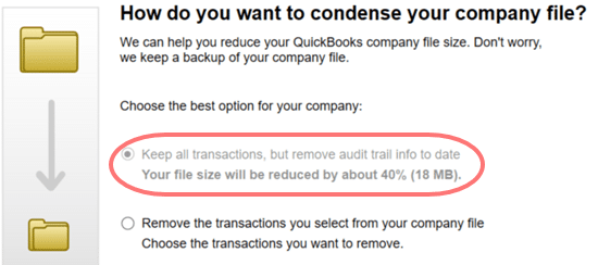 QuickBooks condense repair tool- screenshot