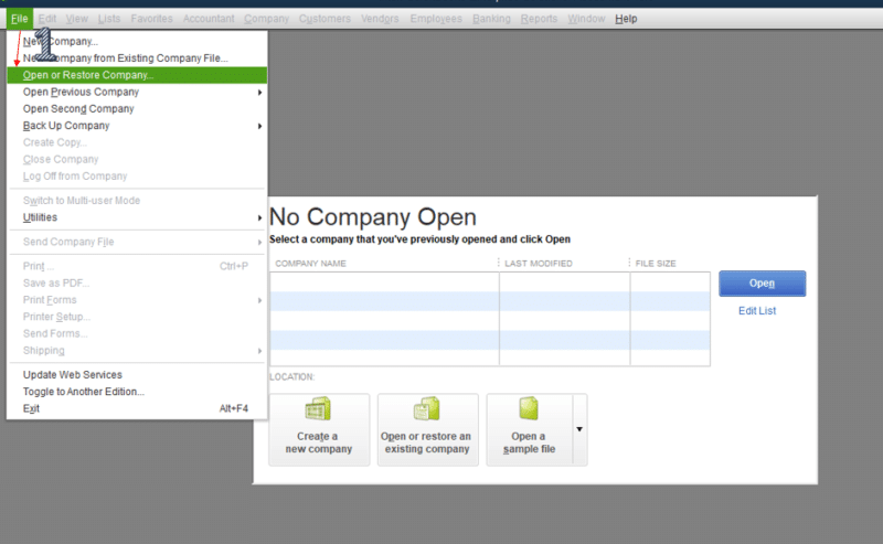 QuickBooks is installed on the host system - Screenshot