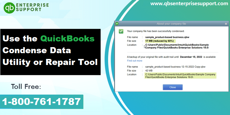 Usage and Functions of QuickBooks Condense Repair Tool - Featured Image