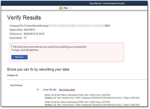 Verify Results - Screenshot