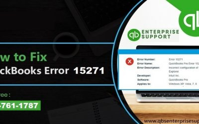 How to deal with QuickBooks error code 15271?