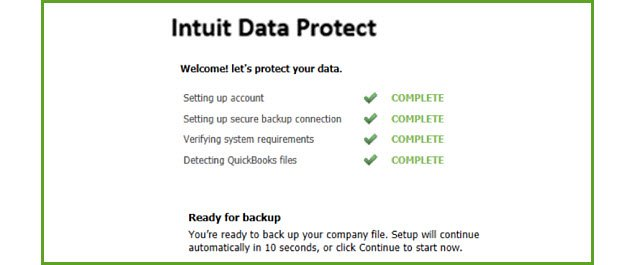 Intuit Data Protect - Screenshot