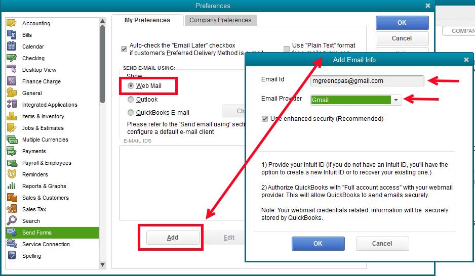 Set up the webmail - Screenshot