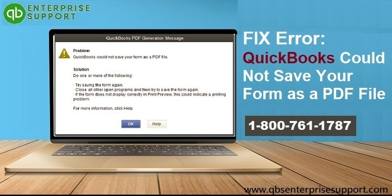 How to Fix QuickBooks Unable To Create PDF Error?
