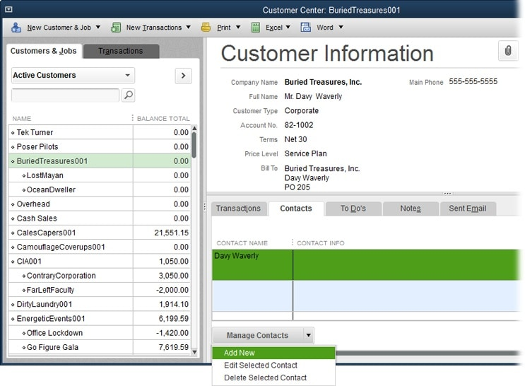 Creating an invoice from scratch in QuickBooks - Screenshot 2