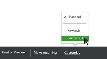 Customize Your Invoice - Screenshot