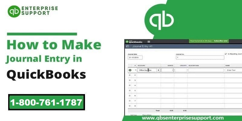 Process of Making or Creating a Journal Entry in QuickBooks Desktop - Featuring Image