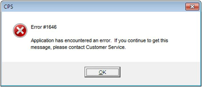 QuickBooks error 1646 -  Screenshot