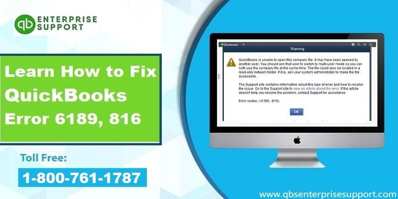 Methods to Troubleshoot the QuickBooks Error Code 6189, 816 - Featured Image