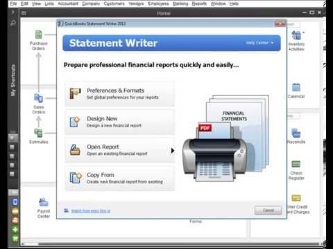 QuickBooks statement writer - Screenshot Image