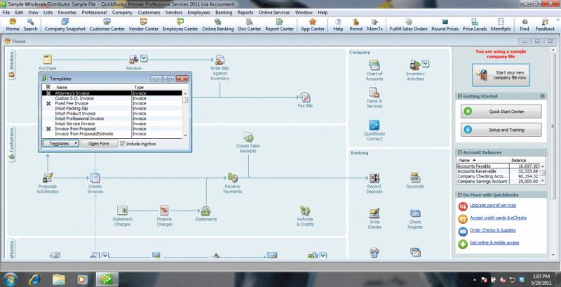 Creating an invoice-screenshot